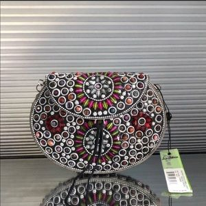 NWT Sam Edelman Stone Embellished Crossbody Bag